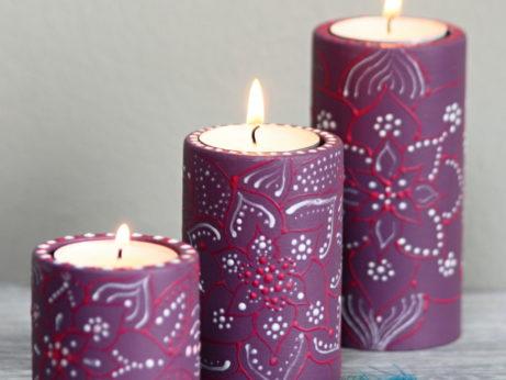 Růžové svícny