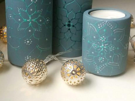 Modré svícny