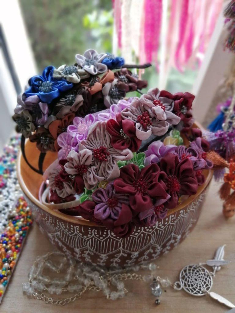 Čelenky, Květy, Dekorace, Ozdoba na hlavu