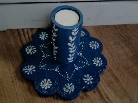 Modrý svícen