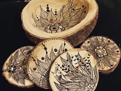 dřevená miska